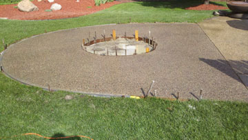 Small Exposed Aggregate Firepit